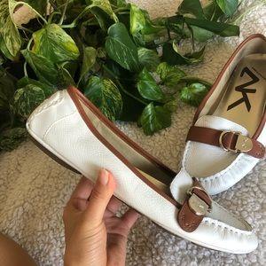 Anne Klein sport white loafers